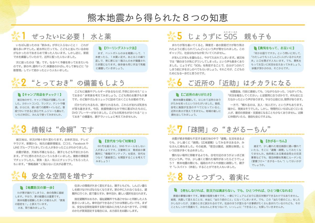 熊本地震から得られた8つの知恵